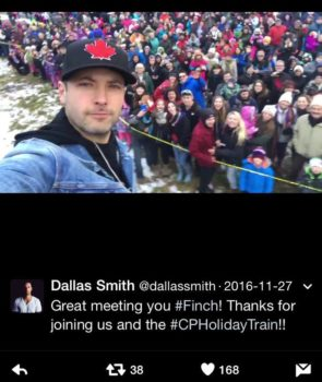 dallas smith CP holiday train
